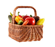 Basket With Fresh Vegetables Royalty Free Stock Photos