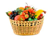 Free Basket With Fruits Royalty Free Stock Photography - 5250697