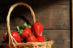 Basket With Strawberries Royalty Free Stock Images