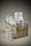 Basket With Toilet Articles Royalty Free Stock Image