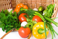 Basket With Vegetables Royalty Free Stock Photography