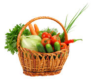 Free Basket With Vegetables Royalty Free Stock Image - 15981706