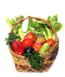 Basket With Vegetables Stock Photo
