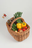 Basket With Vegetables Stock Photos