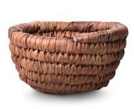 Basket of withe. Isolated on a white background Royalty Free Stock Photography