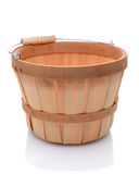 Basket with wood handle Royalty Free Stock Photography