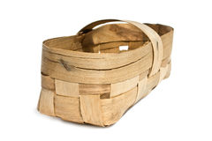 Basket woven of birch bark Royalty Free Stock Images