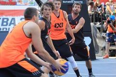 basket 3x3 - världen turnerar i Prague Fotografering för Bildbyråer