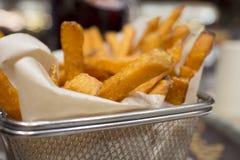 Basket of yam fries Stock Photography