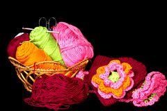 Basket of Yarn Royalty Free Stock Photography