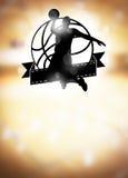Basketbakgrund Royaltyfri Bild