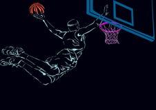 Basketbal stock illustratie