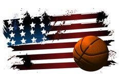 Basketbal achtergrondbal Stock Afbeelding