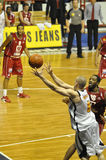 Basketbal, Ben Woodside, Frankrijk. Stock Foto's