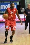 basketbal cez nymburk микрофона lenzly Стоковая Фотография