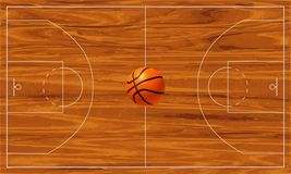 Basketbal court Stock Afbeelding