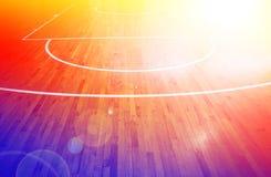 Basketbal court Stock Afbeeldingen