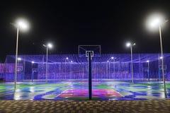 Basketbal court stock afbeelding