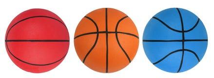 Basketbal dat op whi wordt geïsoleerde Royalty-vrije Stock Fotografie