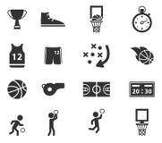 Basketbal eenvoudig pictogrammen Stock Afbeeldingen