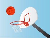 Basketbal en Hoepel vector illustratie