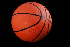 Basketbal, Geïsoleerdee Zwarte Royalty-vrije Stock Foto