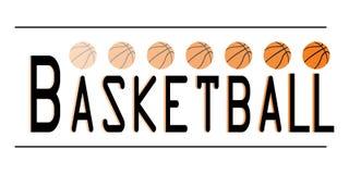 Basketbal het schrijven embleem Royalty-vrije Stock Afbeeldingen