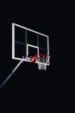 Basketbal houp op zwarte arenaachtergrond Stock Foto