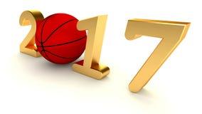 Basketbal 2017 jaar Stock Afbeeldingen