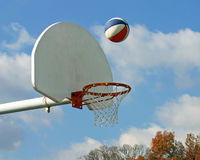 Basketbal in Lucht Stock Foto