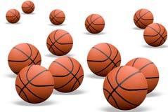 Basketbal met schaduwen Stock Afbeeldingen