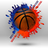 Basketbal met vlekken stock illustratie