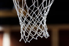 Basketbal netto close-up stock afbeelding