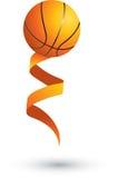 Basketbal op een lint Stock Illustratie