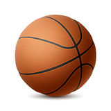 Basketbal op wit Stock Afbeelding