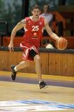 basketbal slezak för ceznymburkpavel Arkivbild