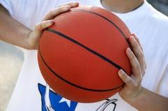 basketbal spel royalty-vrije stock afbeelding