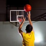Basketbal spelare Arkivfoto