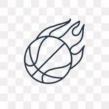 Basketbal vectordiepictogram op transparante achtergrond, linea wordt geïsoleerd vector illustratie