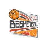 Basketbal vectorembleem Stock Afbeeldingen