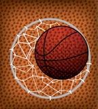 Basketbal vectorillustratie Stock Foto