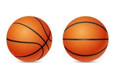 Basketbal, voorzijde en helft-draai geïsoleerde mening, Royalty-vrije Stock Fotografie