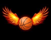 Basketbal-vurige vleugels Royalty-vrije Stock Foto's