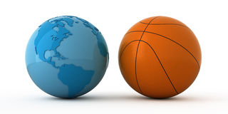 Basketbal wereldwijd Stock Fotografie