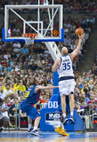 Basketbalactie Royalty-vrije Stock Foto