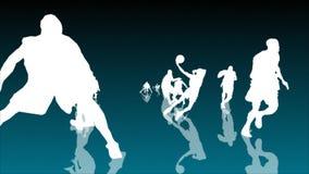Basketbalanimatie 3 vector illustratie