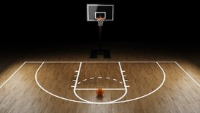 Basketbalarena met basketbalbal Royalty-vrije Stock Afbeelding