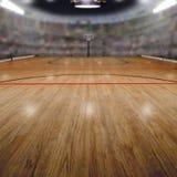 Basketbalarena met Exemplaar Ruimteachtergrond stock afbeelding