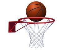 Basketbalbal en hoepel Vector illustratie vector illustratie