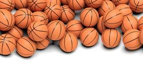 Basketbalballen Stock Afbeeldingen